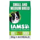 Iams Adult Dry Dog Food Small & Medium Breed - 3kg