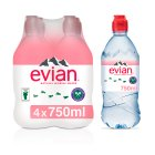 Evian action still mineral water - 4x75cl Brand Price Match - Checked Tesco.com 30/07/2014