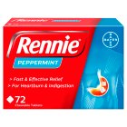 Rennie peppermint - 72s Brand Price Match - Checked Tesco.com 16/07/2014