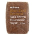Waitrose dark brown muscovado sugar - 1kg