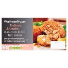 Waitrose Frozen salmon & dill fish cakes - 230g