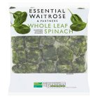 essential Waitrose whole leaf spinach