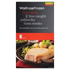 Waitrose 2 line caught yellowfin tuna steaks - 300g