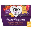 Yeo Valley 4 organic fruity favourites yogurts - 4x120g