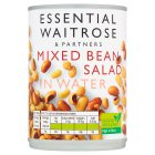 essential Waitrose canned mixed bean salad in water - drained 270g