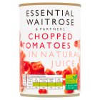 essential Waitrose tinned chopped tomatoes in rich natural juice - 400g
