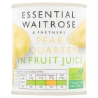 Essential Waitrose Pear Quarters (in fruit juice) - drained 125g