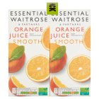 essential Waitrose pure orange smooth juice, 4 pack