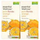 essential Waitrose pure florida orange juice, 4 pack - 4x1litre