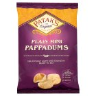 Patak's mini plain original pappadums - 75g