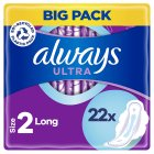 Always Ultra Long Plus with Wings Duo Pack Sanitary Towels 22PK - 22s Brand Price Match - Checked Tesco.com 22/10/2014