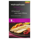 Waitrose 2 farmed sea bass fillets - 210g