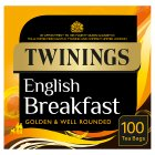Twinings English breakfast 100 tea bags - 250g Brand Price Match - Checked Tesco.com 30/07/2014