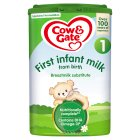 Cow & Gate 1 first infant milk newborn - 900g Brand Price Match - Checked Tesco.com 27/08/2014