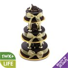 Chocolate Wedding Cake - Gold - 3 Tier - each