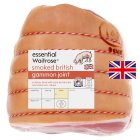 essential Waitrose British Outdoor Bred smoked large bacon gammon joint - per kg