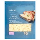 Waitrose extra mild grated mozzarella cheese, strength 1 - 250g