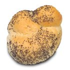 Poppy seeded knot roll
