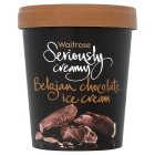 Waitrose Seriously Belgian chocolate ice cream - 500ml