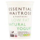 essential Waitrose low fat natural yogurt - 500g