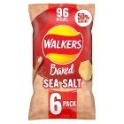 Walkers Baked ready salted plain multipack crisps - 6x25g