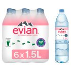 Evian still mineral water - 6x1.5litre Brand Price Match - Checked Tesco.com 10/03/2014