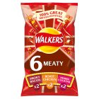 Walkers meaty variety multipack crisps - 6x25g