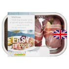 Waitrose Easy To Cook 2 Pork leg steaks with a spiced apple stuffing - 355g