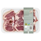 Waitrose 6 Welsh lamb hand cut loin chops -