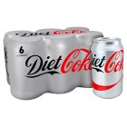 Diet Coke multipack cans - 6x330ml