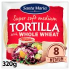 Discovery 8 wholemeal tortillas - 320g Brand Price Match - Checked Tesco.com 02/12/2013