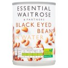 essential Waitrose blackeye beans in water