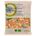 Waitrose organic vegetable mix with broccoli - 750g