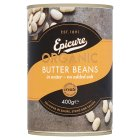 Biona organic canned butter beans in water - drained 230g