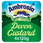 Ambrosia Devon Custard - 4x125g Brand Price Match - Checked Tesco.com 16/07/2014