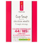 Waitrose LoveLife Calorie Controlled chicken noodle soup in a cup - 4x13g
