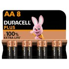 Duracell Plus Power AA Batteries Alkaline - 8s