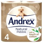 Andrex Natural Pebble Toilet Rolls - 4s