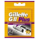 Gillette GII Plus Razor Blades 10 count - 10s