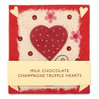 Milk chocolate champagne truffle hearts