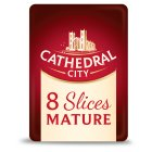 Cathedral City mature Cheddar cheese, 8 slices - 150g