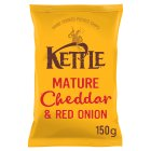 Kettle Chips mature Cheddar & red onion - 150g Brand Price Match - Checked Tesco.com 23/07/2014