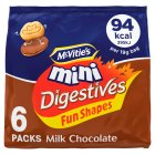 McVitie's mini digestives milk chocolate - 6x25g Brand Price Match - Checked Tesco.com 01/07/2015
