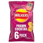 Walkers prawn cocktail multipack crisps - 6x25g