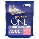Purina one cat adult salmon & rice - 800g