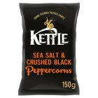 Kettle Chips sea salt with black peppercorns - 150g Brand Price Match - Checked Tesco.com 22/07/2015