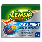 Lemsip Max 16 cold & flu day & night capsules - 16s