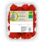 Waitrose Organic raspberries - 125g