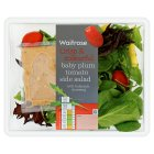 Waitrose Crisp & Colourful baby plum tomato side salad - 135g