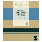 Waitrose English breakfast tea bags 100